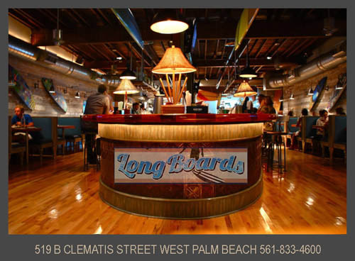 Florida Restaurants Long Boards Seafood Restaurant Clematis Street 500 Block Next To The Lounge West Palm Beach Tailore County